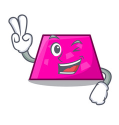 two finger trapezoid character cartoon style vector image