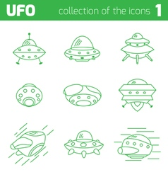 Ufo alien ships icon part one vector