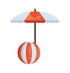 umbrella beach accessory with plastic balloon vector image