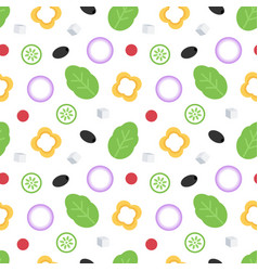 vegetables for salad seamless pattern vector image