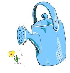 Watering can cartoon icon vector image