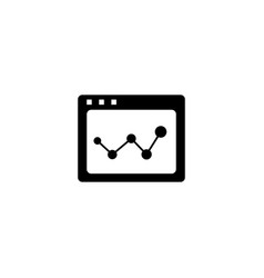 web page analysis icon in flat style for apps ui vector image