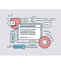 Web programming script vector