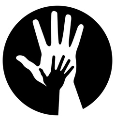 caring hands icon vector image vector image