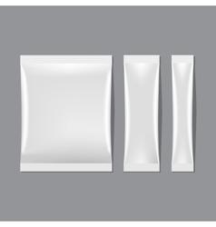 Set of White Blank Sachet Packaging vector image vector image