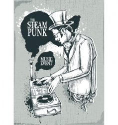steam punk musical poster vector image vector image