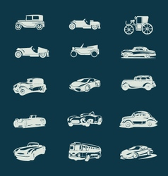 vintage cars icons set vector image vector image