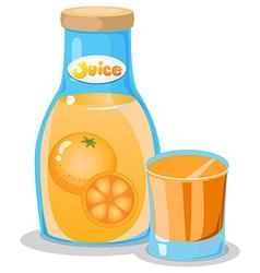 A bottle of orange juice vector image vector image
