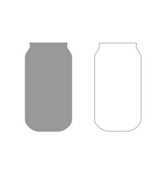 can the grey set icon vector image