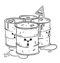 cartoon image of radioactive waste vector image vector image