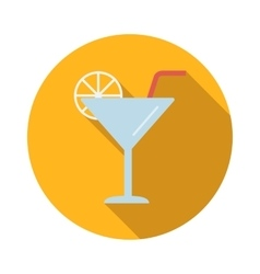 Coctail flat icon vector image