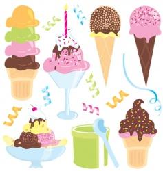 ice cream party vector image