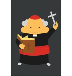 Priest with cross vector image vector image