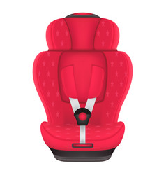 Red child car seat with stars isolated on a white vector