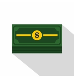 Stack of dollars icon flat style vector image vector image