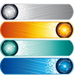winter banners set vector image vector image