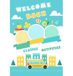 back to school poster ot banner vector image vector image