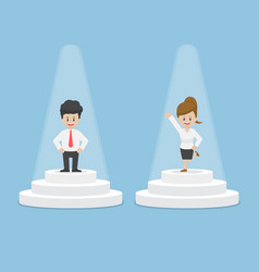 businessman and businesswoman standing and vector image