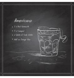 coctail americano on black board vector image vector image