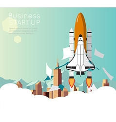 Space shuttle for business start up vector