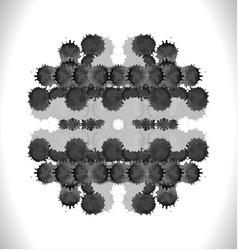 Black circle frame with spla vector