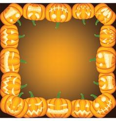 Halloween frame with Jack olantern vector image vector image