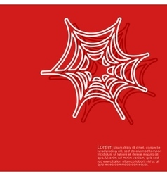 Halloween red background vector image vector image