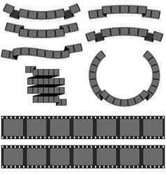 Negative filmstrip media filmstrip vector image
