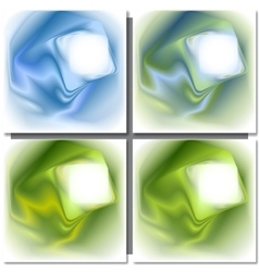 Set of abstract colorful square backgrounds vector image vector image