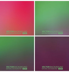 set of green backgrounds vector image vector image