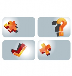 set of message icons vector image