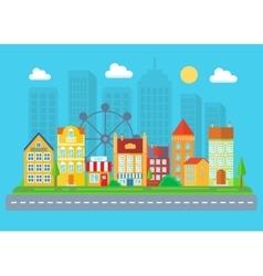 Urban and village landscape Cityscape vector image vector image