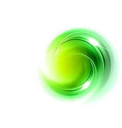 abstract circle smoke on white green vector image