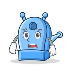 Afraid pencil sharpener character cartoon vector