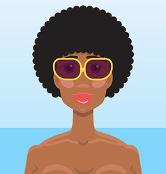 African American young woman portrait vector image