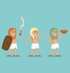 Ancient egyptian people traditional wear character vector