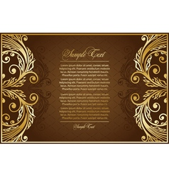 antique brown background vector image