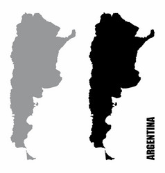 argentina silhouette maps vector image