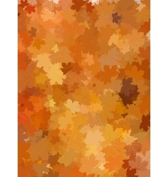 Autumn background with leaves EPS 10 vector image