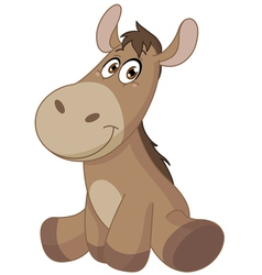baby donkey vector image