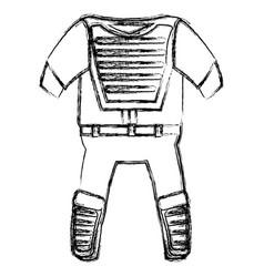 Baseball catcher uniform icon vector