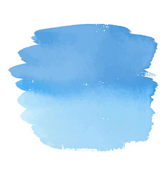 Blue color watercolor hand drawn gradient banner vector