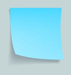 blue memo stick concept background realistic vector image
