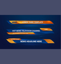 Breaking news bar vector