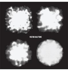 bright halftone set vector image