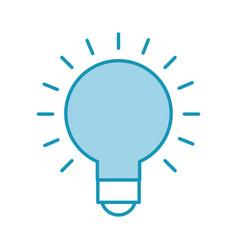 bulb idea on vector image vector image