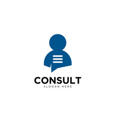 Business consulting and chat logo design template vector