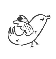 Cartoon bird hand drawn vector image