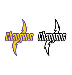 chargers-logo-set vector image