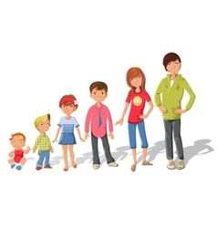 Children Characters Set vector